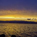 大阪湾 陽が沈んだ後の夕景